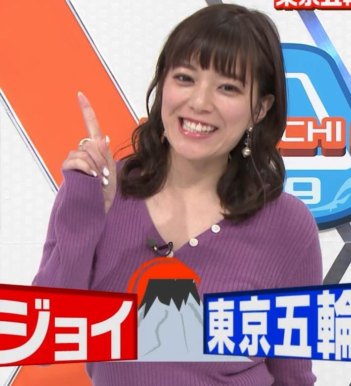 三谷紬アナ 爆乳横乳だけど、テロップが邪魔キャプ・エロ画像6
