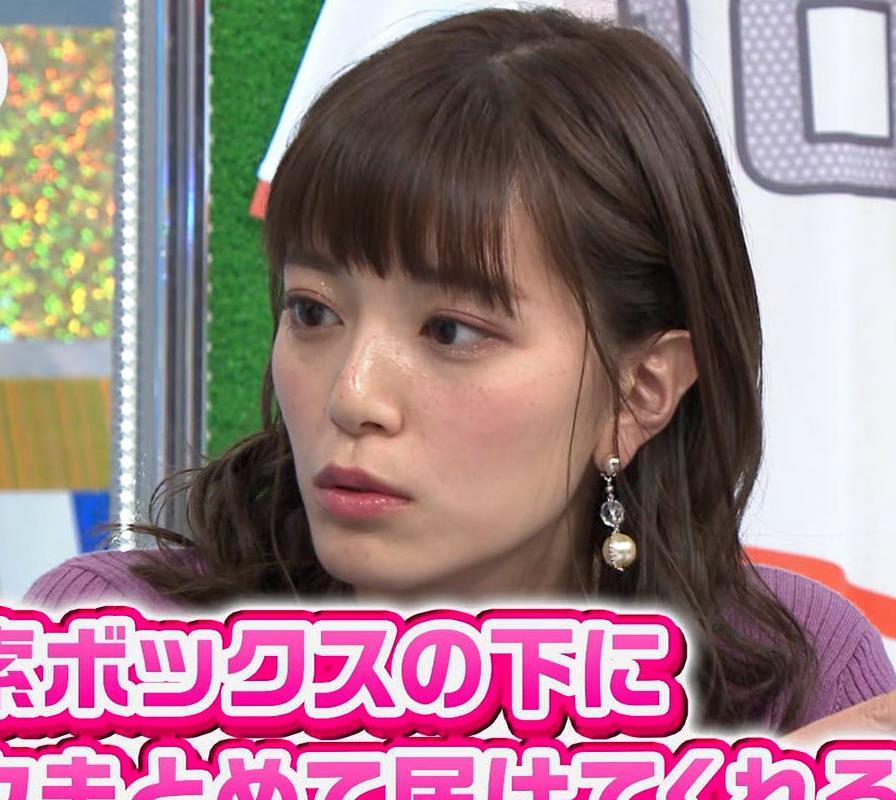 三谷紬アナ デカいニットおっぱいキャプ・エロ画像9