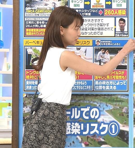 宮澤智アナ ノースリーブでエロいワキキャプ・エロ画像4