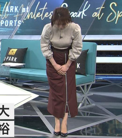 宮司愛海アナ 巨乳化してる?ニットおっぱいキャプ・エロ画像6