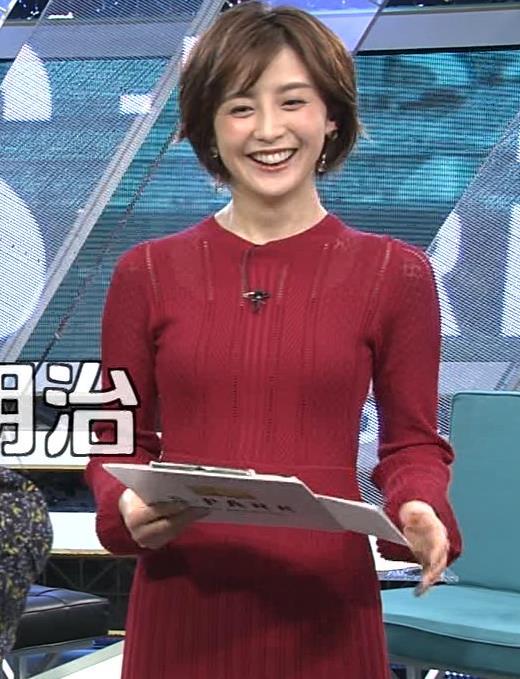 宮司愛海アナ ピチピチなニットでおっぱいがエロいキャプ・エロ画像