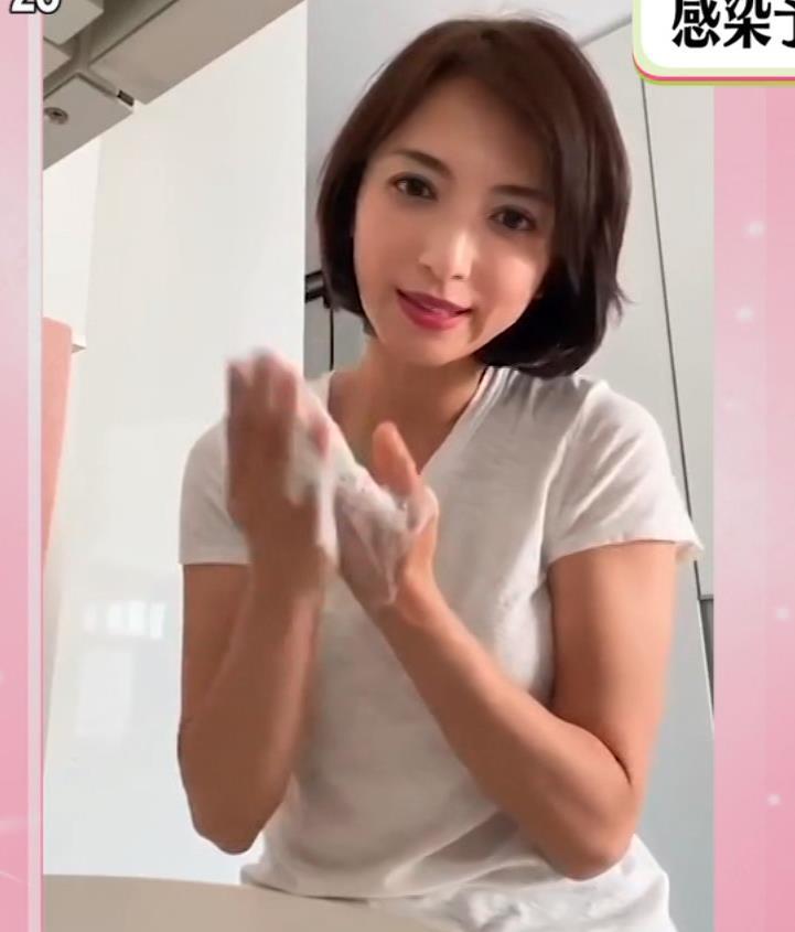 望月理恵 手洗いエロ&Tシャツおっぱいキャプ・エロ画像3