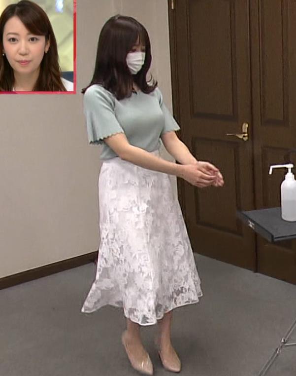 森香澄アナ 巨乳が際立つニットキャプ・エロ画像12