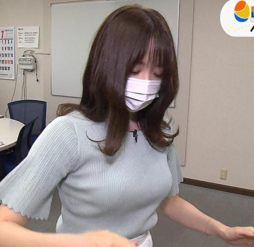 森香澄 巨乳が際立つニットキャプ画像(エロ・アイコラ画像)