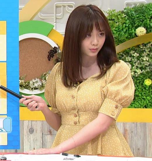 森香澄アナ 巨乳が際立つワンピースの横乳キャプ画像(エロ・アイコラ画像)