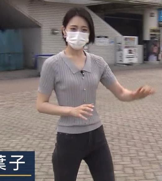 森葉子アナ ピチピチな服でカラダのラインがでててエロいキャプ・エロ画像2