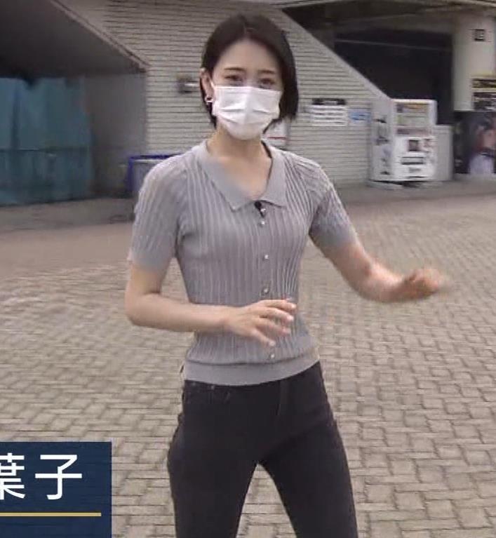 森葉子アナ ピチピチな服でカラダのラインがでててエロいキャプ・エロ画像4