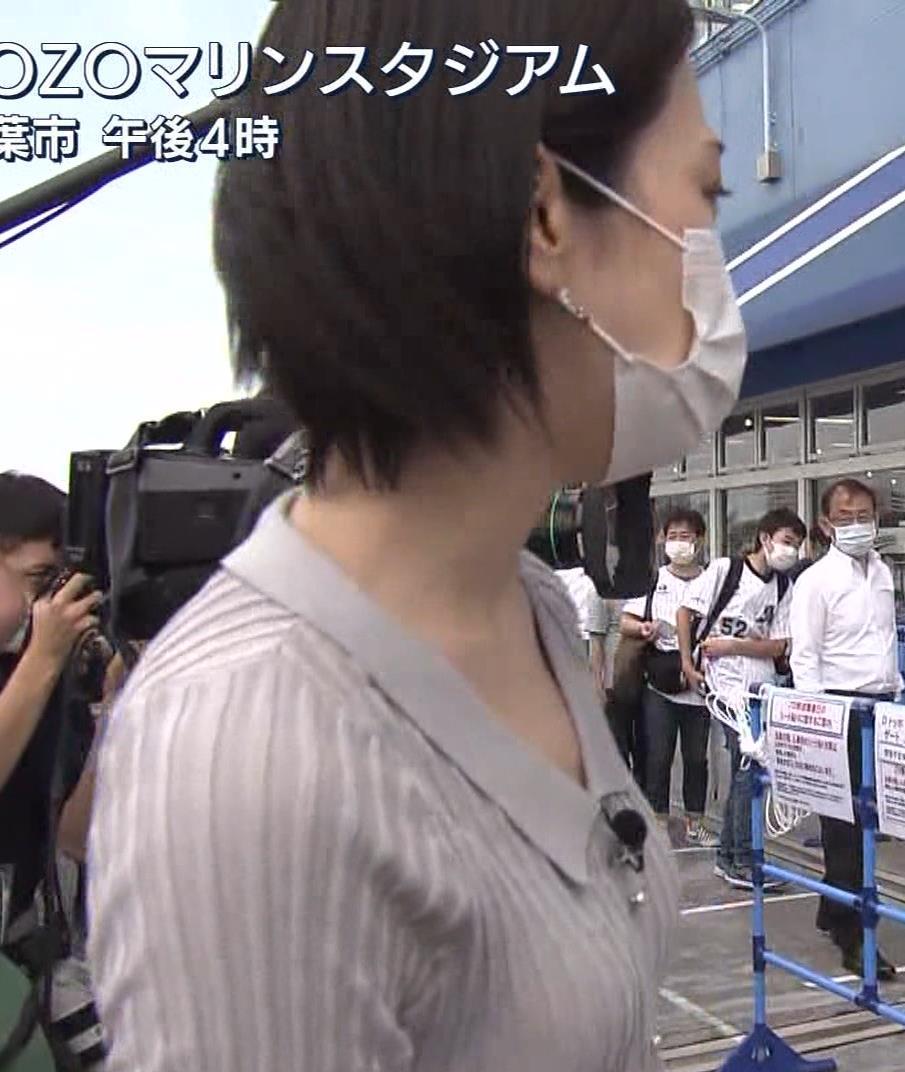 森葉子アナ ピチピチな服でカラダのラインがでててエロいキャプ・エロ画像5
