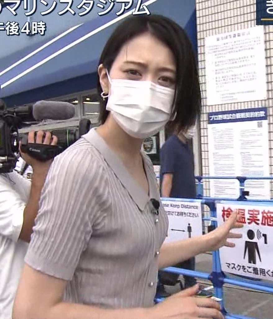 森葉子アナ ピチピチな服でカラダのラインがでててエロいキャプ・エロ画像6
