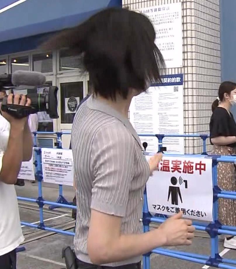 森葉子アナ ピチピチな服でカラダのラインがでててエロいキャプ・エロ画像7
