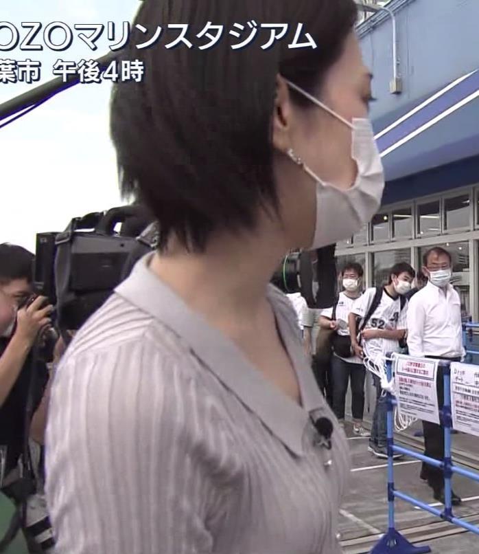 森葉子アナ ピチピチな服でカラダのラインがでててエロいキャプ・エロ画像8