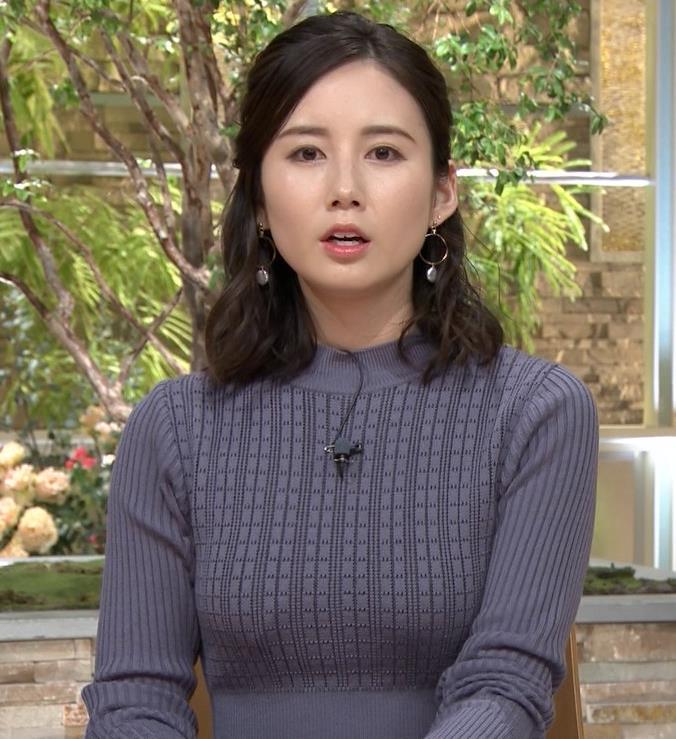 森川夕貴アナ クッキリおっぱいのニットキャプ・エロ画像