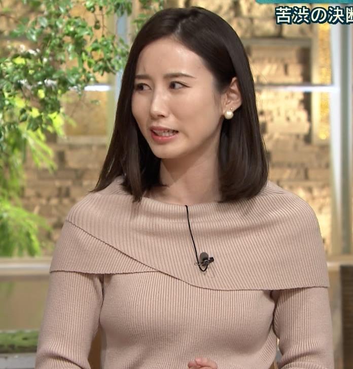 森川夕貴アナ クッキリおっぱいのニットキャプ・エロ画像11