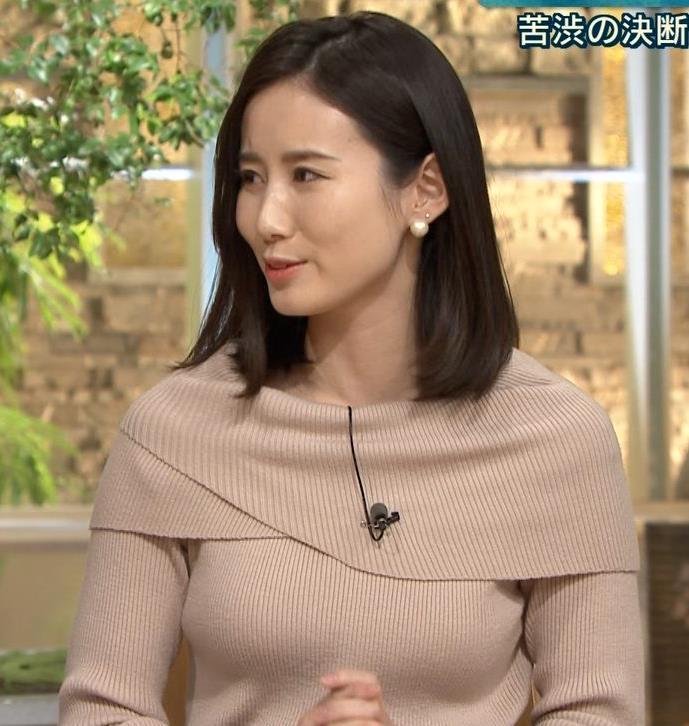 森川夕貴アナ クッキリおっぱいのニットキャプ・エロ画像8