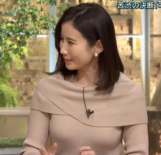 森川夕貴アナ クッキリおっぱいのニットキャプ画像(エロ・アイコラ画像)