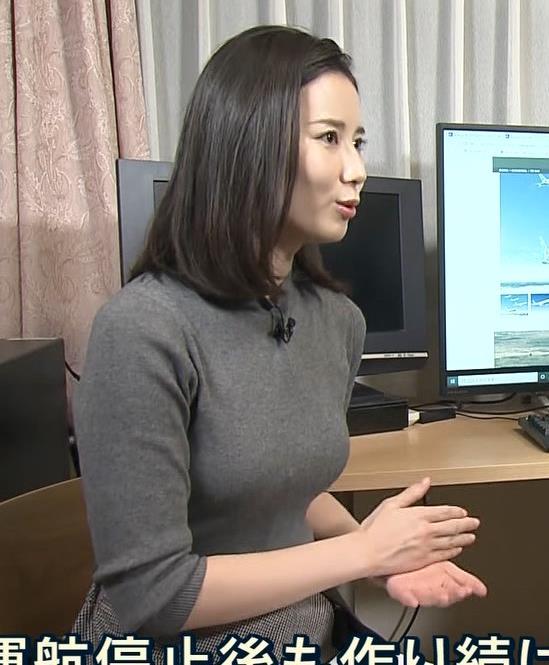 森川夕貴アナ この服エロいキャプ・エロ画像