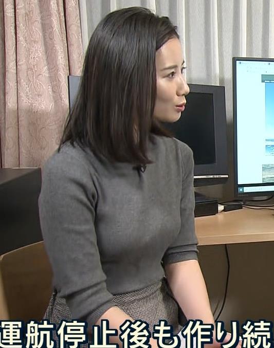 森川夕貴アナ この服エロいキャプ・エロ画像2