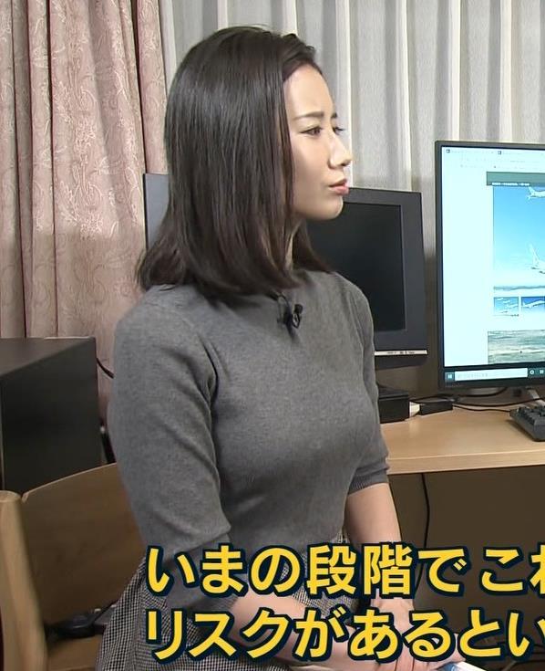 森川夕貴アナ この服エロいキャプ・エロ画像4