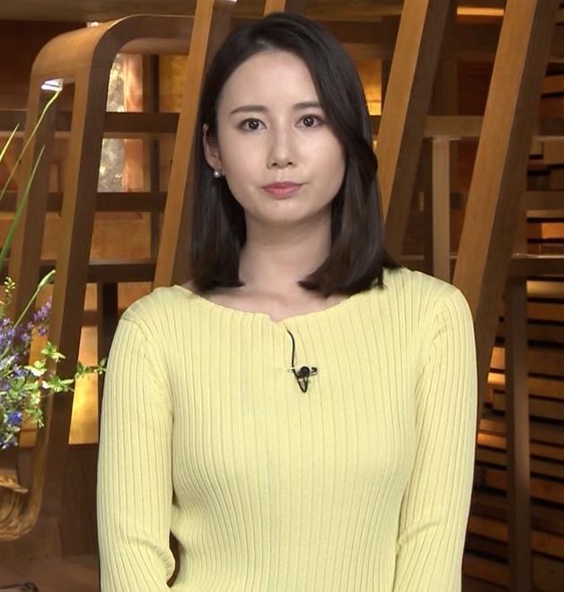 森川夕貴アナ ニット巨乳を横からキャプ・エロ画像