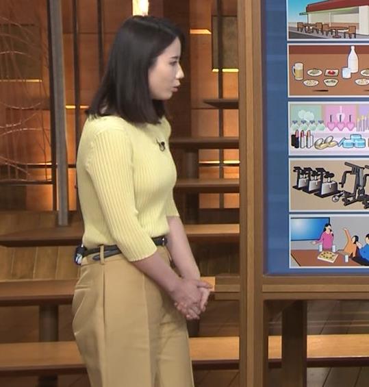森川夕貴アナ ニット巨乳を横からキャプ・エロ画像2