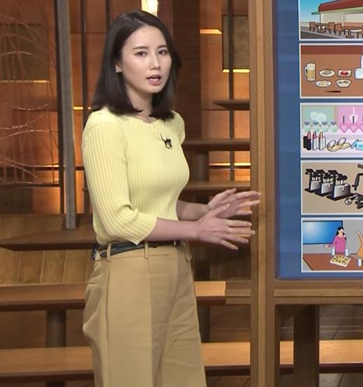 森川夕貴アナ ニット巨乳を横からキャプ・エロ画像3