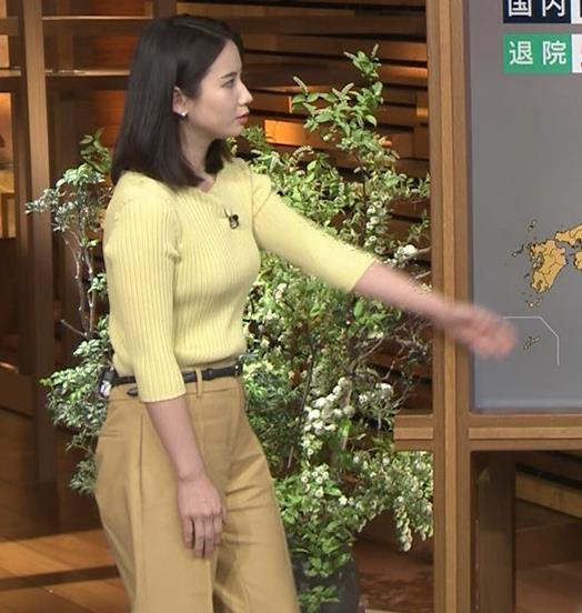 森川夕貴アナ ニット巨乳を横からキャプ・エロ画像4