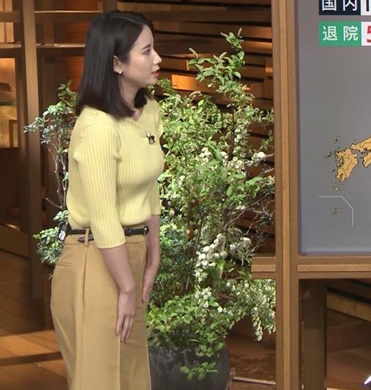 森川夕貴アナ ニット巨乳を横からキャプ・エロ画像5