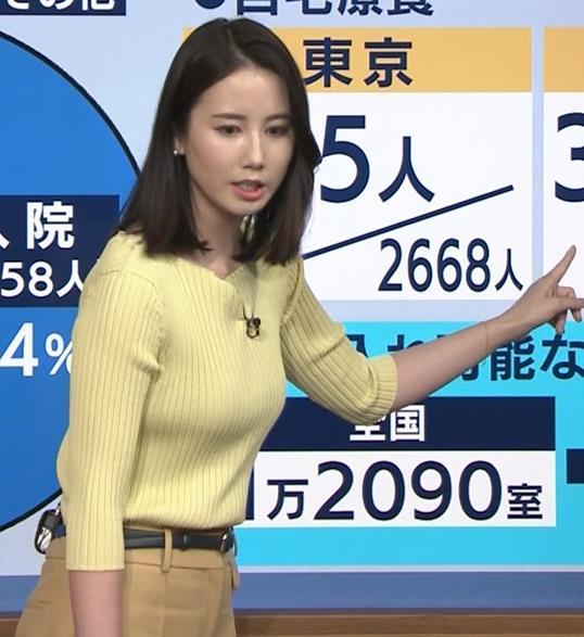 森川夕貴アナ ニット巨乳を横からキャプ・エロ画像10