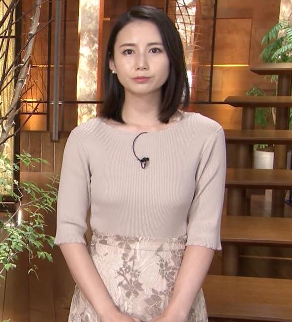 森川夕貴アナ 巨乳ニットがエロ過ぎるキャプ・エロ画像