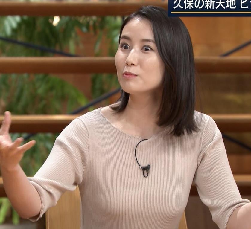 森川夕貴アナ 巨乳ニットがエロ過ぎるキャプ・エロ画像12