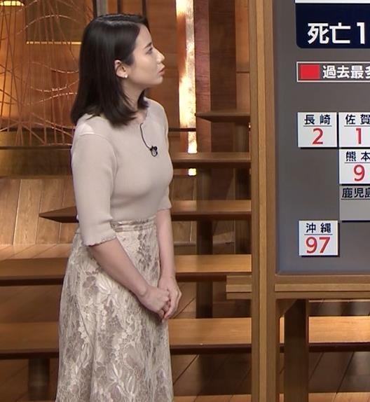 森川夕貴アナ 巨乳ニットがエロ過ぎるキャプ・エロ画像3