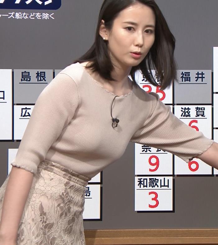 森川夕貴アナ 巨乳ニットがエロ過ぎるキャプ・エロ画像4