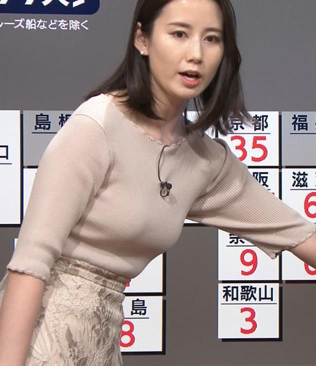 森川夕貴アナ 巨乳ニットがエロ過ぎるキャプ・エロ画像5