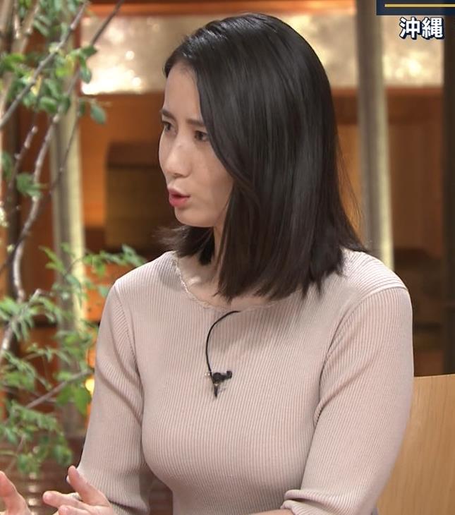 森川夕貴アナ 巨乳ニットがエロ過ぎるキャプ・エロ画像6