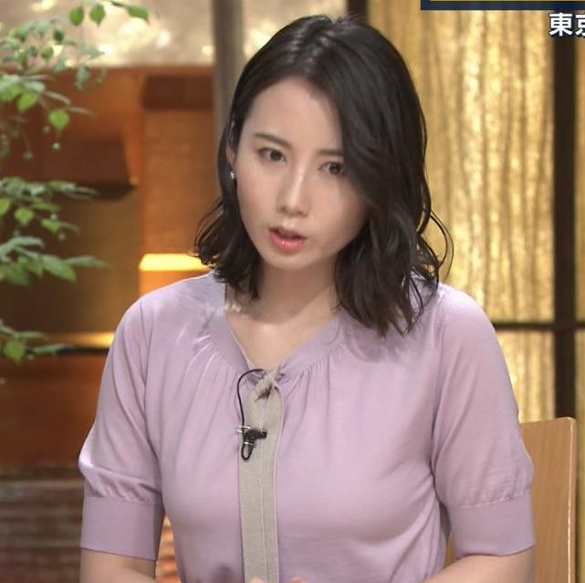 森川夕貴アナ 連日の巨乳エロキャプ・エロ画像2