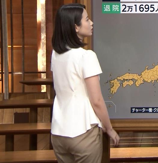森川夕貴アナ お尻もエロいパンツスタイルキャプ・エロ画像6
