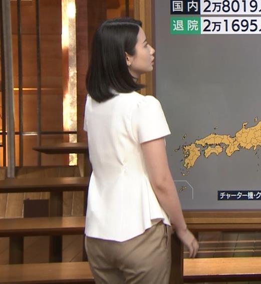 森川夕貴アナ お尻もエロいパンツスタイルキャプ・エロ画像8