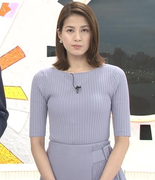 永島優美アナ ニットおっぱいキャプ・エロ画像