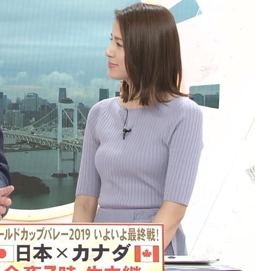 永島優美アナ ニットおっぱいキャプ・エロ画像2
