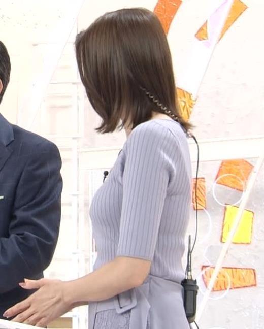 永島優美アナ ニットおっぱいキャプ画像(エロ・アイコラ画像)
