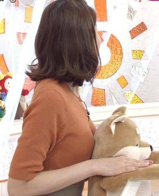 永島優美アナ おっぱいを押し当てるキャプ画像(エロ・アイコラ画像)
