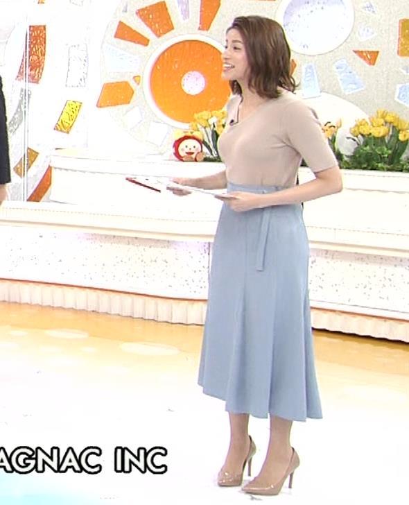 永島優美アナ ピチピチニットの横乳がエロ過ぎキャプ・エロ画像3