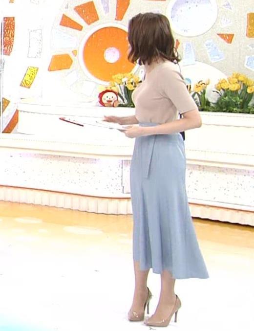 永島優美アナ ピチピチニットの横乳がエロ過ぎキャプ画像(エロ・アイコラ画像)