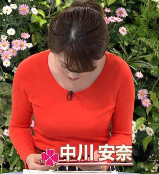 中川安奈アナ 巨乳横乳&お尻エロキャプ・エロ画像