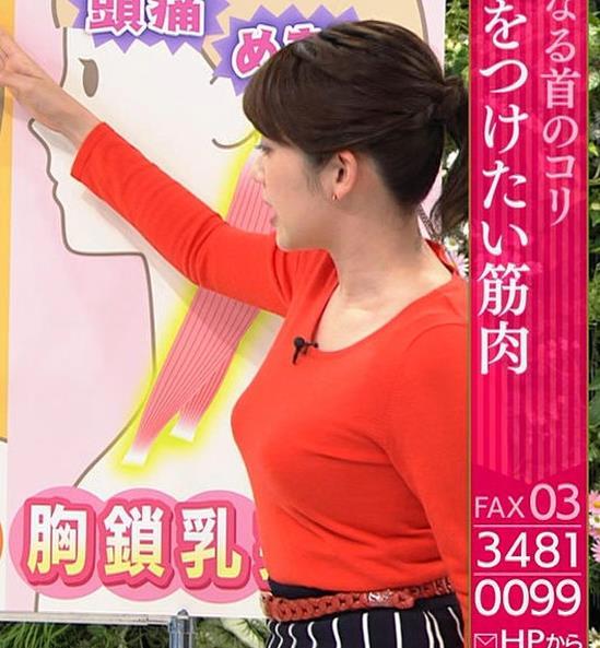中川安奈アナ 巨乳横乳&お尻エロキャプ・エロ画像5