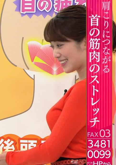 中川安奈アナ 巨乳横乳&お尻エロキャプ・エロ画像6
