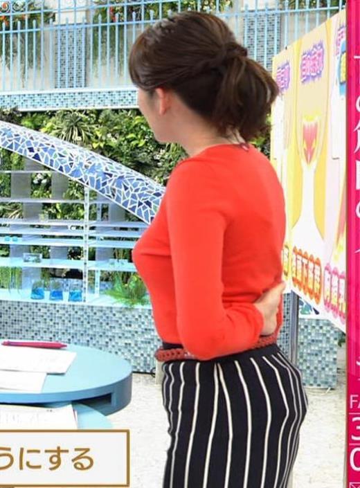 中川安奈アナ 巨乳横乳&お尻エロキャプ画像(エロ・アイコラ画像)