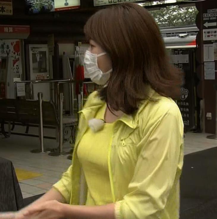 中川安奈アナ NHK期待の爆乳アナキャプ・エロ画像9