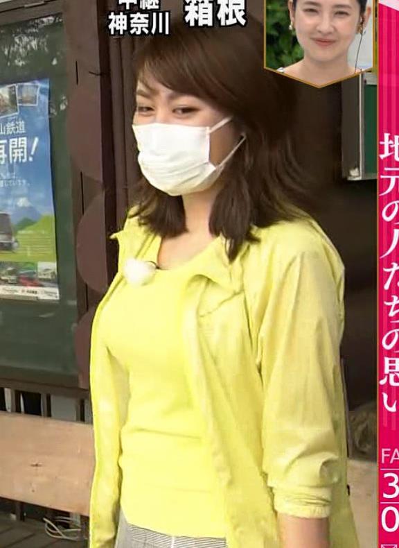 中川安奈アナ NHK期待の爆乳アナキャプ・エロ画像10