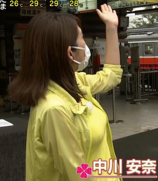 中川安奈アナ NHK期待の爆乳アナキャプ画像(エロ・アイコラ画像)